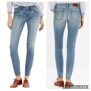 Madewell Skinny Skinny Jeans in Lydon Wash 26 NEW